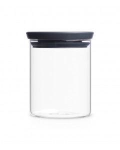 Stackable Glass Jar 0.6L - Dark Grey Lid