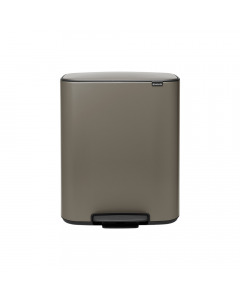 Bo Pedal Bin 60 litre - Platinum
