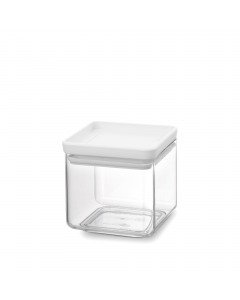 Tasty+ Square Canister 0.7 litre - Light Grey Lid