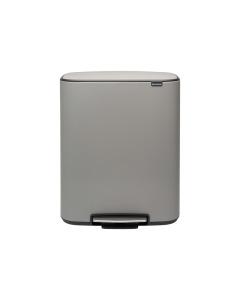 Bo Pedal Bin 2 x 30 litre - Mineral Concrete Grey