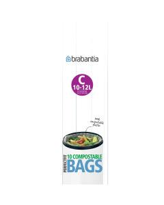 BinLiner Code C (10 - 12 litre) Compostable - 10 bags