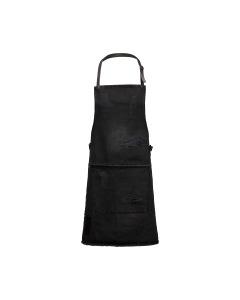 BBQ Style Apron Distressed Denim - Black