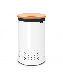 Laundry Bin 60 litre with Cork Lid - White