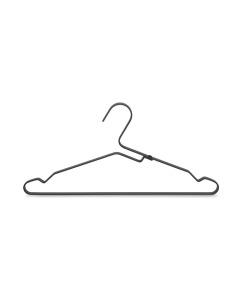 Aluminium Clothes Hanger, Set of 4 - Black