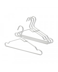 Aluminium Clothes Hanger, Set of 4 - Silver