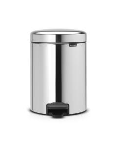 Pedal Bin NewIcon Recycle 2 x 2 litre - Brilliant Steel