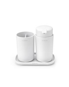 Bathroom Accessory Set of  3 - White