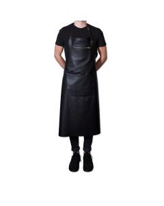 Zipper Style Apron - Black