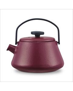 Brabantia T-time Cast Iron Kettle - Aubergine Red