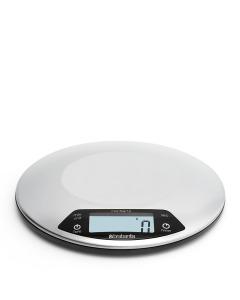 Digital Kitchen Scale, Round - Matt Steel