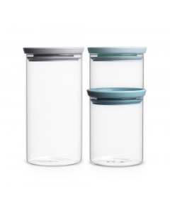 Stackable Glass Jar 3 Set 0.3L+0.6L+1.1L