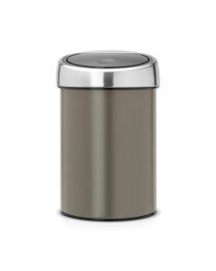 Touch Bin 3 litre - Platinum with Matt Steel Lid