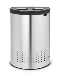 Laundry Bin 55L, Selector - Matt Steel