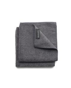 Microfiber Dish Cloths, Set 2 - Dark Grey