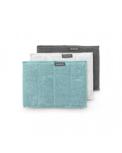Microfiber Cleaning Pads, Set of 3 - Assorted
