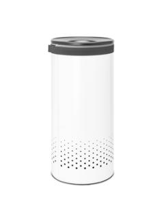 Laundry Bin 35 litre - White / Dark Grey Lid