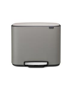 Bo Pedal Bin 3 x 11 litre - Mineral Concrete Grey