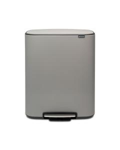 Bo Pedal Bin 60 litre - Mineral Concrete Grey