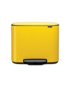 Bo Pedal Bin 3 x 11 litre - Daisy Yellow