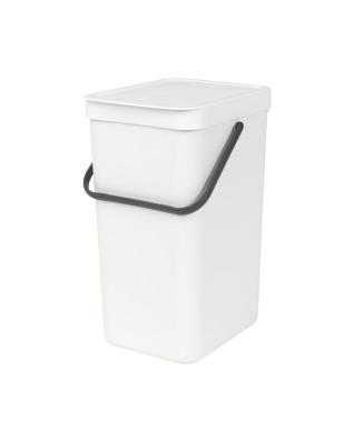 Sort & Go Waste Bin 16 litre - White
