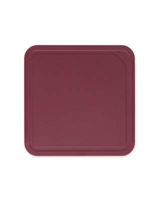 Tasty+ Chopping Board, Medium - Aubergine Red