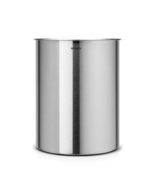 Waste Paper Bin 15 litre - Matt Steel