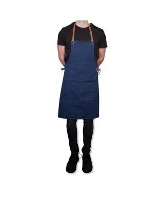 BBQ Style Apron Canvas - Dark Blue
