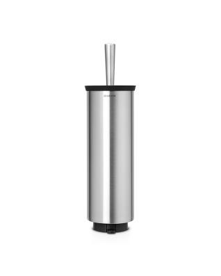 Toilet Brush & Holder (Profile) - Matt Steel