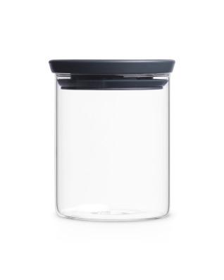 Stackable Glass Jar 0.6L - Dark Grey Lid