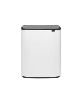 Bo Touch Bin 2 x 30 litre - White