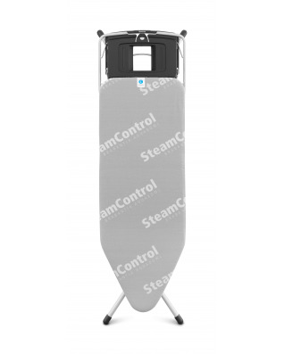 Ironing Board 124x45cm (C) Foldable Steam Unit Holder Steam Control with Aqua Bowl