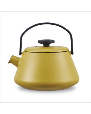 Brabantia T-time Cast Iron Kettle - Mustard Yellow