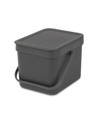Sort & Go Waste Bin 6 litre - Grey