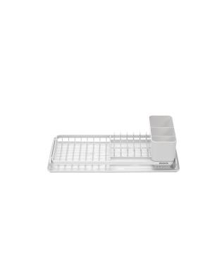 Compact Dish Drying Rack - Light Grey