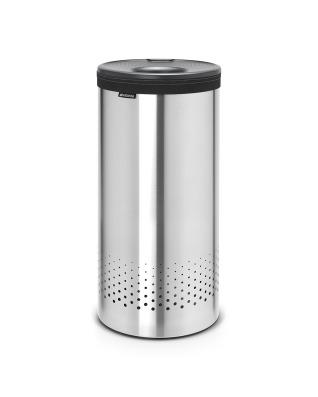 Laundry Bin 35 litre - Matt Steel / Grey Lid