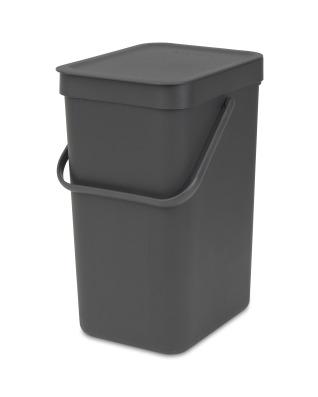Sort & Go Waste Bin 12 litre - Grey