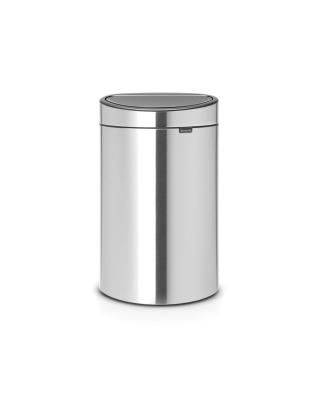 Touch Bin New Recycle 10 + 23 litre - Matt Steel Fingerprint Proof