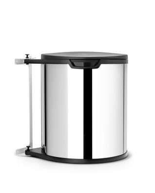 Built-In Bin 15 litre - Brilliant Steel
