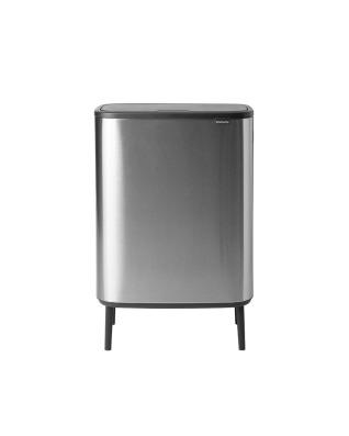 Bo Touch Bin Hi 60 litre - Matt Steel Fingerprint Proof