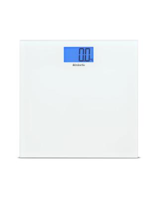 Digital Bathroom Scales, Battery Powered - White