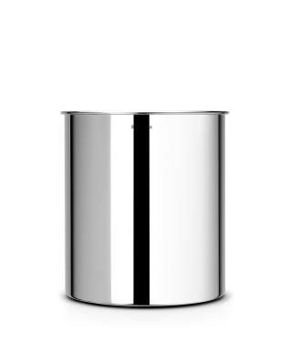 Waste Paper Bin 7 litre - Brilliant Steel