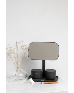 Mirror with Storage Tray - Dark Grey