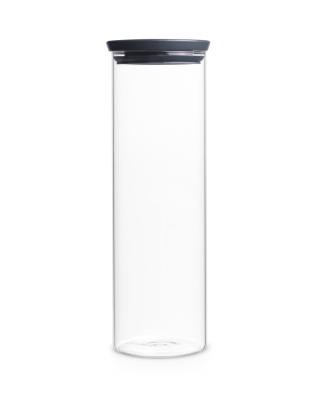 Stackable Glass Jar 1.9l - Dark Grey Lid