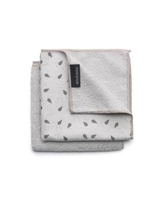 Microfiber Dish Cloths, Set 2 - Light Grey