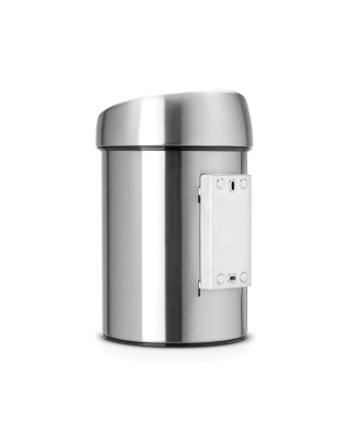 Touch Bin 3 litre - Matt Steel Fingerprint Proof