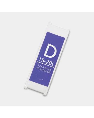 Replacement Plastic Capacity Tag Code D / 15-20 litre - Purple