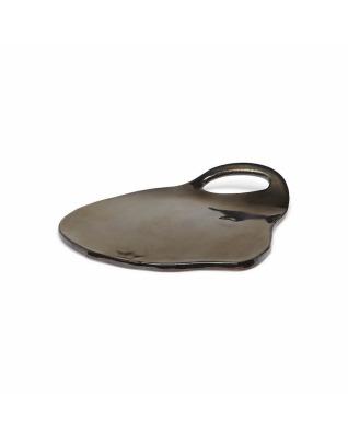 Organic Lola Board Plate Ceramic - Platinum