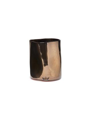 Utensil Holder Dented Crock Ceramic - Platinum