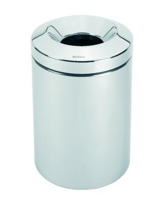 Flame Guard Waste Paper Bin 15 litre - Brilliant Steel