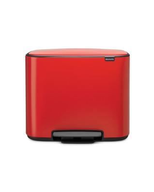 Bo Pedal Bin 3 x 11 litre - Passion Red